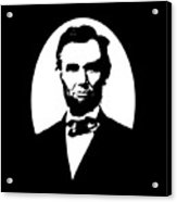 Abraham Lincoln - Black And White Acrylic Print