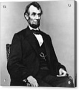 Abraham Lincoln Portrait - Used For The Five Dollar Bill - C 1864 Acrylic Print