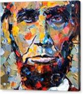 Abraham Lincoln Portrait Acrylic Print by Debra Hurd