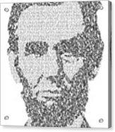 Abraham Lincoln Typography Acrylic Print