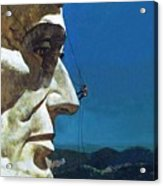 Abraham Lincoln's Nose On The Mount Rushmore National Memorial  Acrylic Print