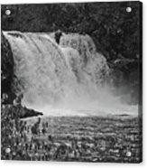 Abrams Falls Cades Cove Tn Black And White Acrylic Print