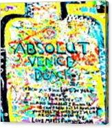 Absolut Venice Beach Acrylic Print
