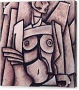 Absract Girl Acrylic Print