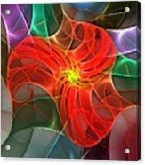 Abstract 061710a Acrylic Print