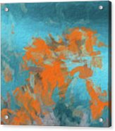 Abstract 104 Digital Oil Painting On Canvas Full Of Texture And Brig Acrylic Print
