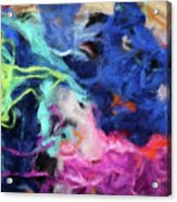 Abstract 130 Digital Oil Painting On Canvas Full Of Texture And Brig Acrylic Print