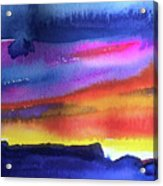 Joan's Sunset Acrylic Print
