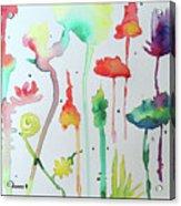 Blob Flowers Acrylic Print