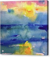 Floating In Blue Acrylic Print