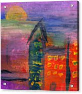 Abstract - Acrylic - Lost In The City Acrylic Print