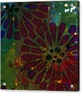 Abstract Acrylic Painting Colorful Spring I Acrylic Print