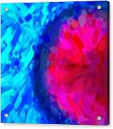 Abstract Art Combination - The Pink Martian Crater, Ca 2017, By Adam Asar ,  In 3d Watercolor Acrylic Print