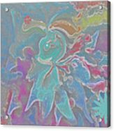 Abstract Art Fun Flower By Sherriofpalmspring Acrylic Print