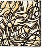 Abstract Art Gold 2 Acrylic Print