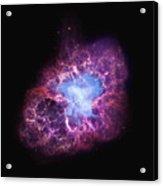 Abstract Heavenly Art - The Crab Nebula Acrylic Print