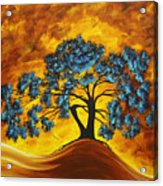 Abstract Art Original Landscape Painting Dreaming In Color By Madartmadart Acrylic Print by Megan Duncanson
