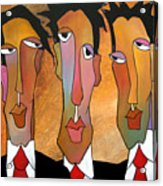 Abstract Art Original Painting - Mad Men Acrylic Print