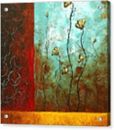 Abstract Art Original Poppy Flower Painting Subtle Changes By Madart Acrylic Print