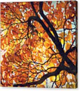 Abstract Autumn Impression Acrylic Print