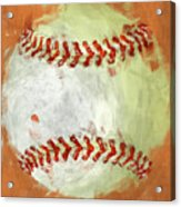 Abstract Baseball Acrylic Print