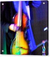 Abstract Bass Player. Acrylic Print
