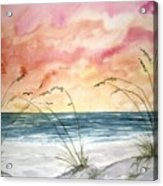 Abstract Beach Painting Acrylic Print