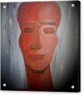 Abstract Black  Man Acrylic Print