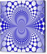 Abstract Blue And White Pattern Acrylic Print