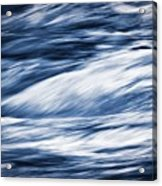 Abstract Blue Background Wild River Acrylic Print