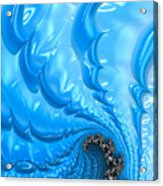 Abstract Blue Winter Fractal Acrylic Print