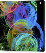 Abstract Bubbles Acrylic Print