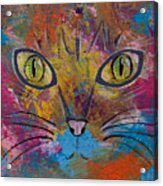 Abstract Cat Meow Acrylic Print