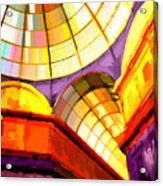 Abstract Cathedral Color Wheel Acrylic Print