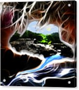 Abstract-cavern Acrylic Print by Patricia Motley