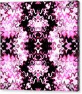 Pink And Black Design  Acrylic Print