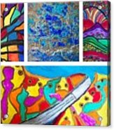 Abstract Collage Acrylic Print