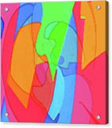 Abstract Color Block  Acrylic Print