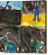 Abstract Color Combination Series - No 9 Acrylic Print