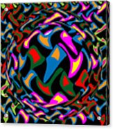 Abstract Colorful Art Exploded View Of Whirlwind At Its Builds On Dry Leaves Acrylic Print