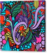 Abstract Colorful Floral Design Acrylic Print