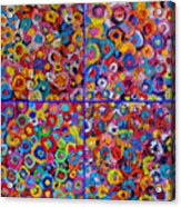 Abstract Colorful Flowers 4 Acrylic Print