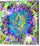 Abstract Colorful Tie Dye Acrylic Print