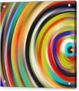 abstract Colurfull Rings Acrylic Print