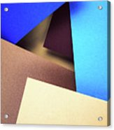 Abstract Composition With Colored Paper Acrylic Print