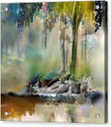 Abstract Contemporary Art Titled Humanity And Natures Gift By Todd Krasovetz  Acrylic Print