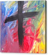 Abstract Cross Acrylic Print