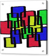 Abstract Cubicles Acrylic Print