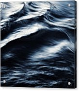 Abstract Dark Blurred Ripples Acrylic Print
