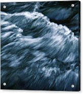 Abstract Dark Waves On The River Acrylic Print